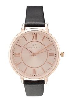 01ef50cf0a Victoria Walls Watches black Designer Watch-Elegant Leather Strap  E1AE8AC53D7F17GS 1