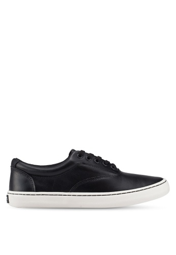Sperry black Cutter CVO Leather Sneakers E33AFSH597E8AFGS_1