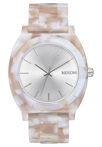 Nixon pink and multi and silver Time Teller 40mm - Acetate Pink/Silver (A327718) AA816AC0B57903GS_1