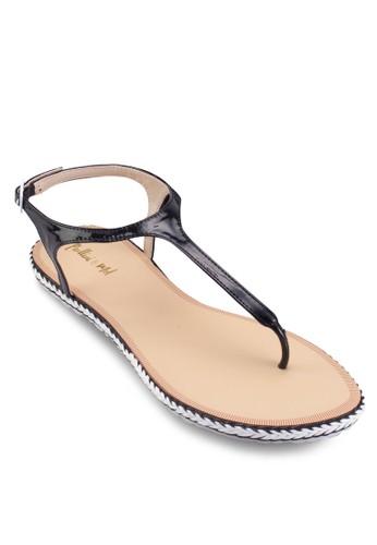 夾趾平底涼鞋, zalora 包包評價女鞋, 鞋