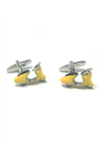 Splice Cufflinks yellow and silver Yellow Vintage Scooter Cufflinks  SP744AC56EMTSG_1