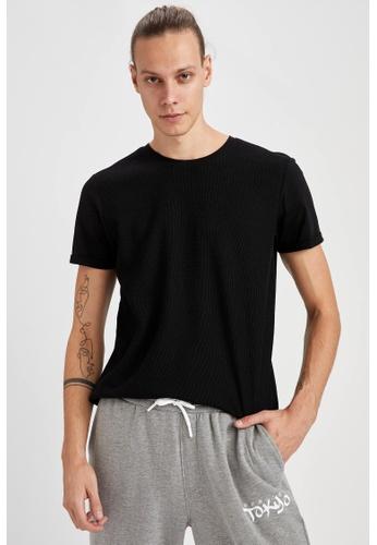 DeFacto black Man Knitted T-Shirt CA6FCAA41785EEGS_1