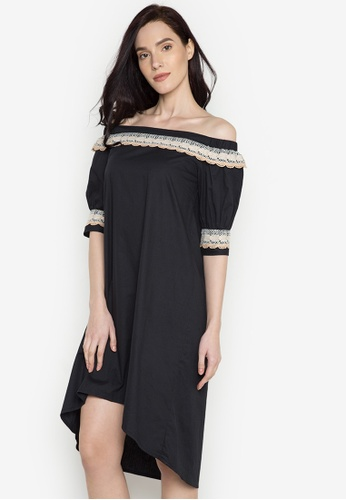 Plains & Prints black Vertu C/S Dress PL509AA0JCXCPH_1