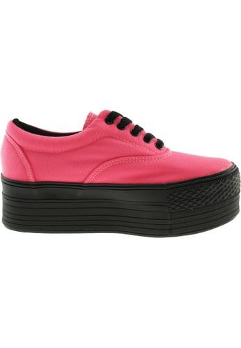 Maxstar pink Maxstar Women's C50 5 Holes Platform Canvas Low Top Sneakers US Women Size MA164SH50PSJSG_1