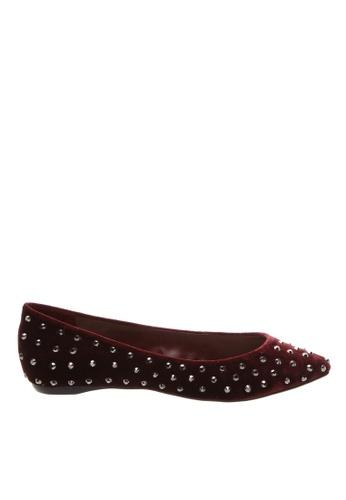 SCHUTZ Wine Velvet Ballerina Shoes - JACKIE [RUBI WINE] 63103SH0EA39A0GS_1