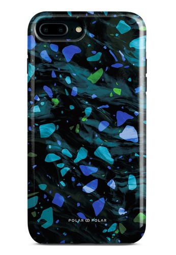 Polar Polar blue Ocean Terrazzo Gem Dual-Layer Tough Case Glossy For iPhone 8 Plus/7 Plus 534A7AC9C35ED1GS_1