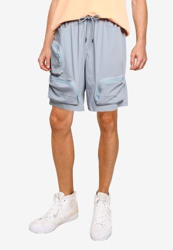 URBAN REVIVO blue Casual Shorts EF38AAA589ABFAGS_1