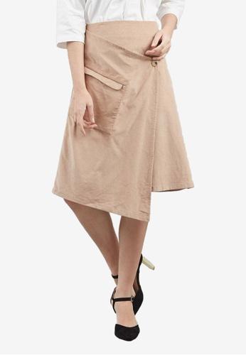 Berrybenka beige Eleora Skirt 397DDAA124E8DCGS_1