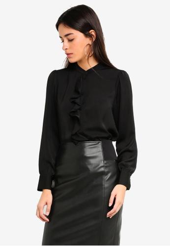 Vero Moda black Escape Long Shirt 4B7BDAAA82181EGS_1