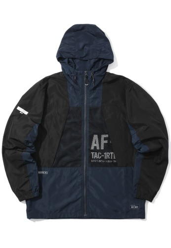 :CHOCOOLATE navy Mesh patch jacket 59DE2AAE442475GS_1