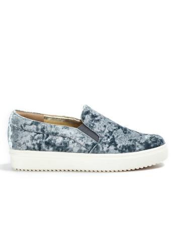 Shu Talk grey Velvet Lace Up Sneakers 1B567SHCBE0476GS_1