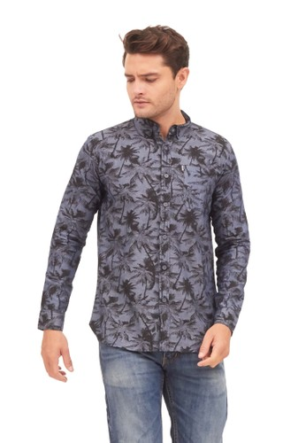MUGABE grey MUGABE mens shirt tropic long CE736AA37EC566GS_1