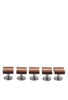 Wooden Set Butang Baju Melayu - The Stripe