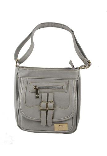 DNJ grey Compact Sling Bag DN487AC81YXAPH_1