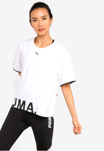 aa535c3cff4 Puma white Sportstyle Prime Chase Cotton Tee 08075AA8C56AC3GS 1