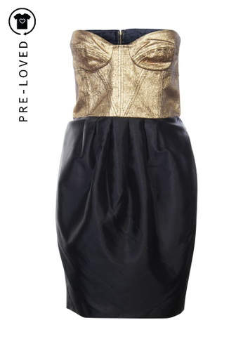 Camilla And Marc black Pre-Loved camilla and marc Black and Gold Bustier Dress 74736AA8DEA1F9GS_1