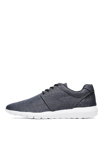 MIT。個性型男。低調人字紋esprit 尖沙咀休閒鞋-04785-黑色, 鞋, 休閒鞋