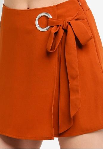 be3845ec6c Buy Dorothy Perkins Rust Wrap Eyelet Skort Online | ZALORA Malaysia