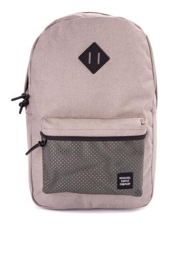 Herschel green and beige Heritage Backpack HE958AC0JPXJPH_1