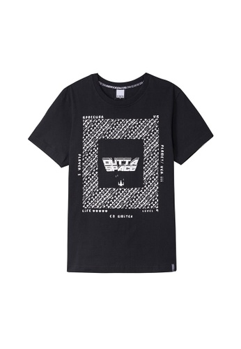 Cheetah black Cheetah C2 United Casual Short Sleeves Tee Round Neck - CT-91182-C2 83199AAF0AEEFFGS_1