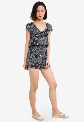 e62143d27fa Buy ZALORA Love Button Front Playsuit With Cap Sleeves Online ...