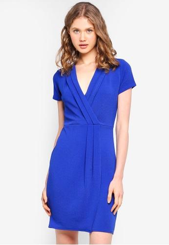 Buy Dorothy Perkins Pleat Wrap Pencil Dress Online on ZALORA Singapore d54f66d8d