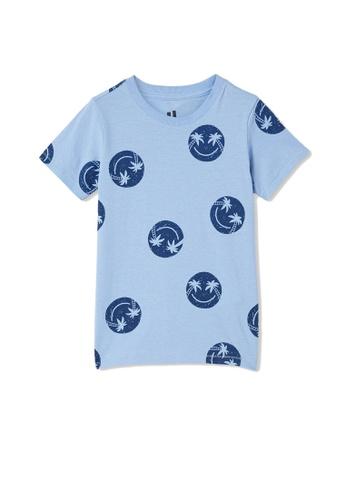 Cotton On Kids blue Max Short Sleeves Tee 34887KA07403EAGS_1