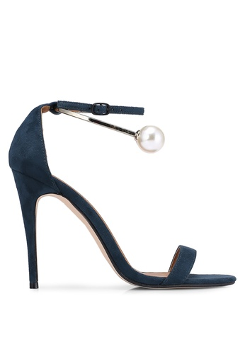 ZALORA green and blue Heels With Pearl Anklet AFF7ESHA89608EGS_1