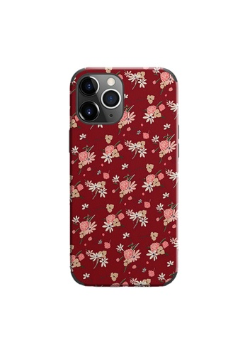 Kings Collection red Floral Pattern iPhone 12 Pro / 12 Case (KCMCL2405) 2EF39ACDA745C2GS_1