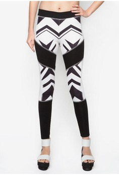 Abstract Printed Jegging