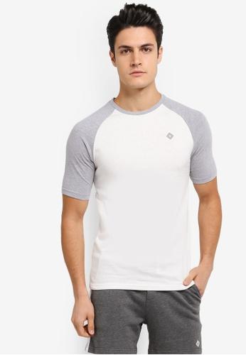 JAXON white Short Sleeves Raglan Logo Tee 9FC6FAA6536DE8GS_1