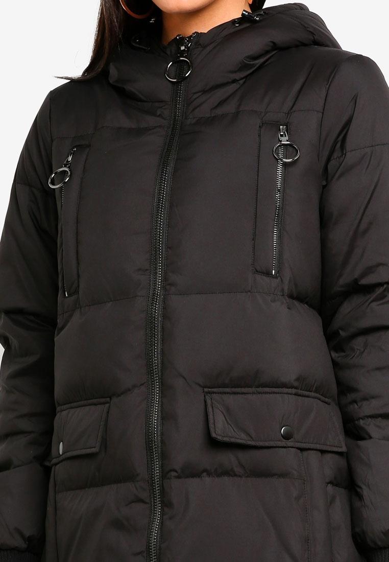 Down Comfy 4 Moda Black Jacket 3 Vero 4wIBv55qx