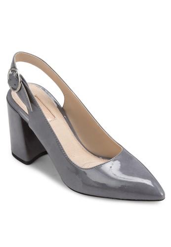 尖頭繞踝esprit 面試粗跟高跟鞋, 女鞋, 鞋