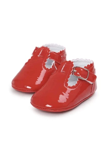 RAISING LITTLE red Colored Patent Tbars Shoes - Red E3C0CKSA10A8ACGS_1
