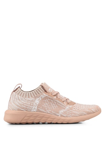ALDO pink Knitted Sneakers B927BSH79F6F72GS_1