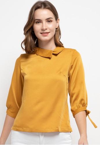 WHITEMODE yellow Elin Blouses 0D9A9AAB331DC1GS_1