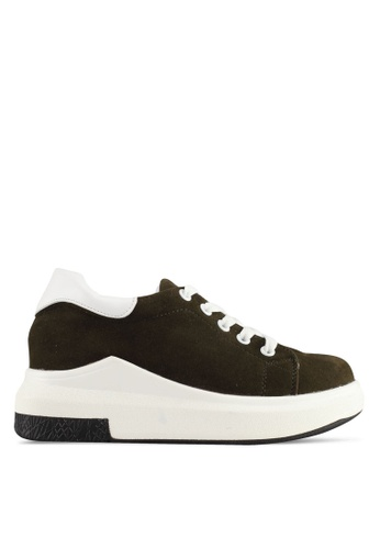 Spiffy brown Korean Trendy Design Sneakers 730F9SHD6A8B4DGS_1