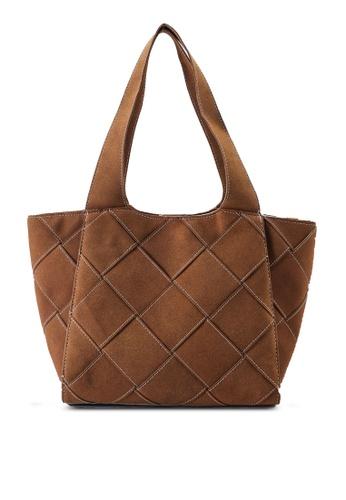 Rubi brown Soft Woven Tote Bag E7B87ACCB6AD38GS_1