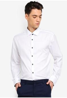 11fd186f6d T.M. LEWIN white T.M.Lewin Casual Slim White Statement Twill Standard  Collar Shirt 19DEEAA45B312CGS 1
