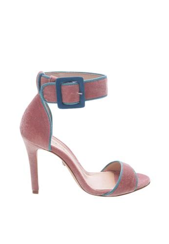 SCHUTZ 粉紅色 SCHUTZ 絨面露趾高跟涼鞋 -  MAISY (粉紅色) 90235SHE8E9284GS_1