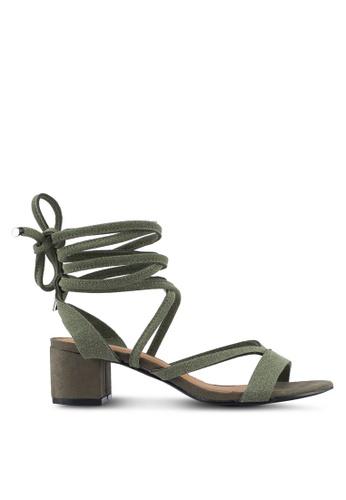 Rubi green Lo Se Lace Up Heels 611B6SH612157AGS_1