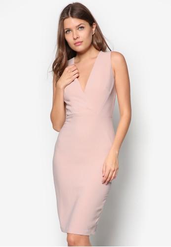 前裹zalora 衣服尺寸飾鉛筆洋裝, 服飾, 正式洋裝