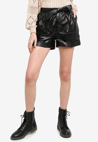 Mink Pink black Realist Shorts AF45BAAA64119FGS_1