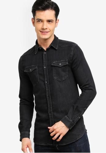 Guess 黑色 修身丹寧襯衫 2CFDBAAC515661GS_1