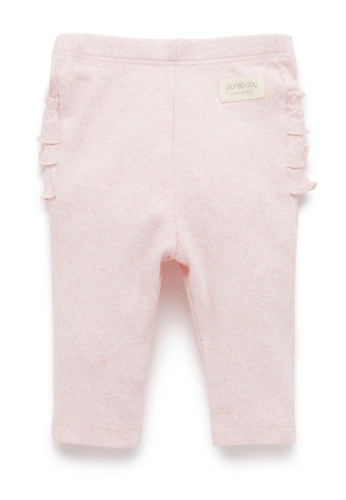 Purebaby pink Everyday Ruffle Leggings 836A3KA9F3496EGS_1