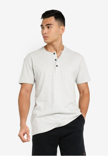 ABERCROMBIE & FITCH grey Essential Henley T-Shirt B0E45AA0911923GS_1