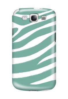 Blue Zebra Print Glossy Hard Case for Samsung