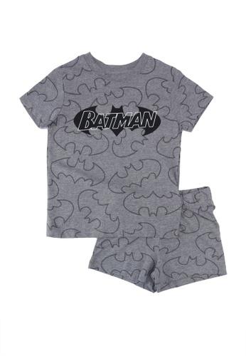 FOX Kids & Baby grey Grey Batman T-Shirt And Shorts Set 2DB53KA7A4BEC6GS_1
