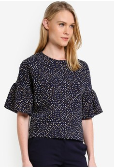【ZALORA】 Essential Ruffle Short Sleeve 上衣