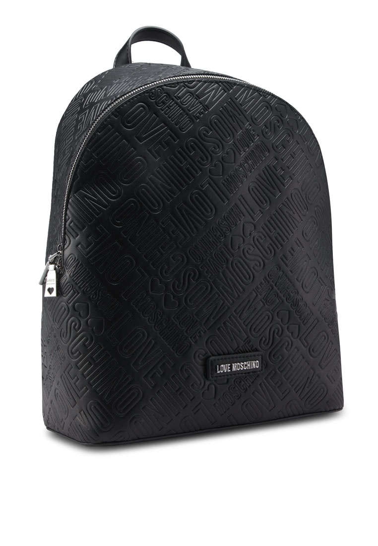 7d354053f52 ... Moschino Love Black Embossed Friday Borsa Backpack Black aqBgf ...